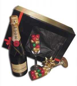 Moet & Chocolates in Glasses